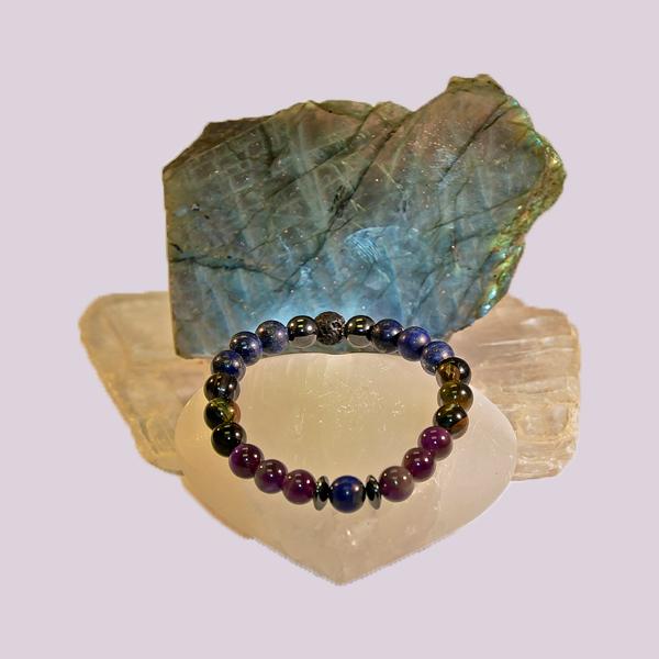 Archangel Michael Aromatherapy Crystal Masculine Bracelet